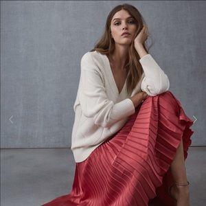 NWT Reiss Isidora Pleated Skirt US 4 fits 0-2 Pink
